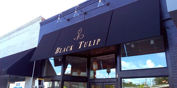 black tulip awning