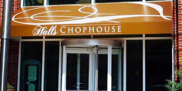 Halls Chophouse Awning