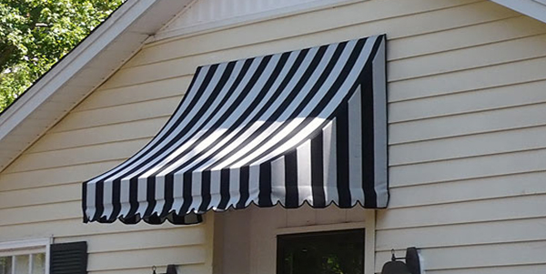 Striped Swayback Awning